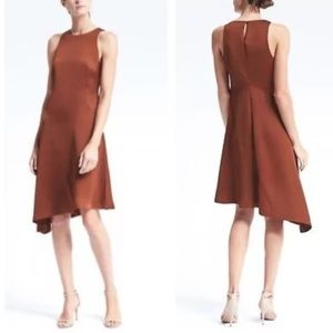 Banana Republic Asymmetrical Swing Dress Orange